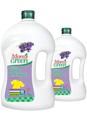 Mom's Green 2'li Set Bitkisel Çamaşır Deterjanı 2 Lt - Lavanta 0