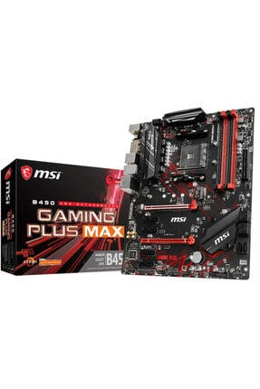 MSI B450 Gaming Plus Max AMD B450 4133MHz DDR4 Soket AM4 ATX Anakart 0