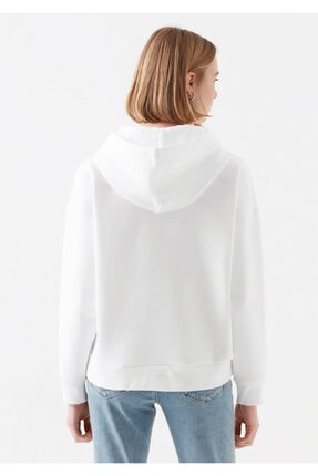 Mavi Kadın Beyaz Baskılı Sweatshirt 168334-620 3