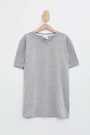 Defacto Erkek Çocuk V Yaka Basic Tişört 0