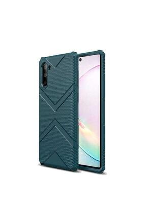Zore Galaxy Note 10 Zore Hank Silikon Koyu Yeşil Kılıf 0