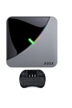 Tv Box A95x F3 Aır Akıllı Tv Kutusu Android 9.0 8k Medya Oynatıcı Amlogic S905x3 4 Gb/64gb I8 Klavye 0