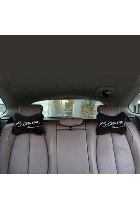 1araba1ev Volvo V60 Oto Oto Koltuk Boyun Ve Seyahat Yastık Atatürk 2 Adet Siyah 4