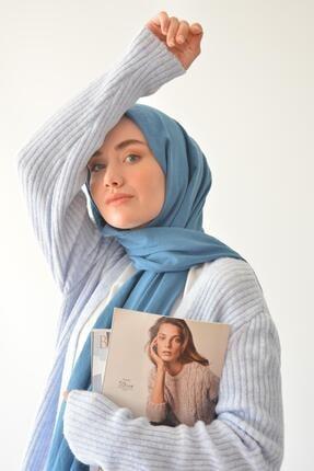 Rukayyel Kadın Mavi Cepli Yumoş Hırka 2