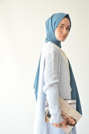 Rukayyel Kadın Mavi Cepli Yumoş Hırka 3