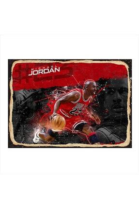 Tablomega Ahşap Tablo Michael Jordan 35cm X 50cm 0