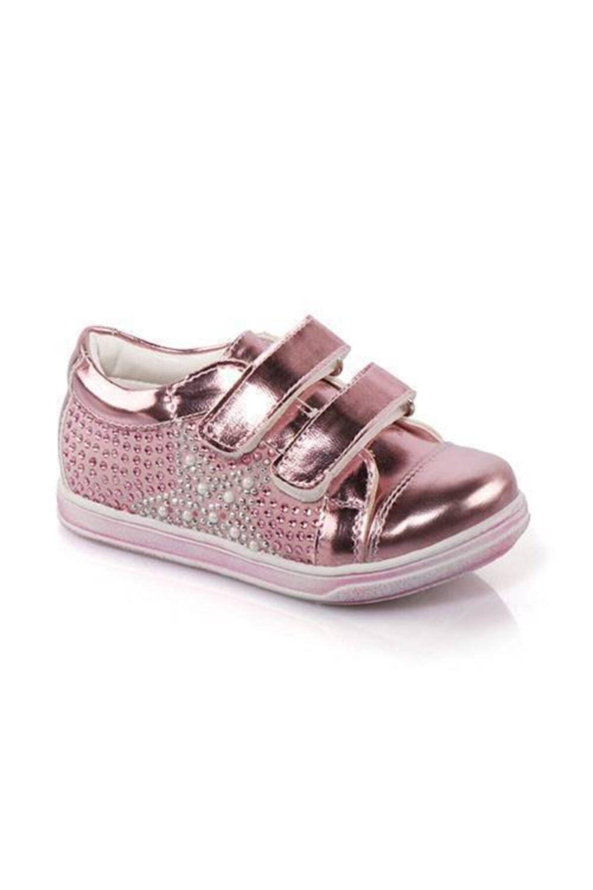 Kız Çocuk Pembe Taşlı Bantlı Günlük Ayakkabı