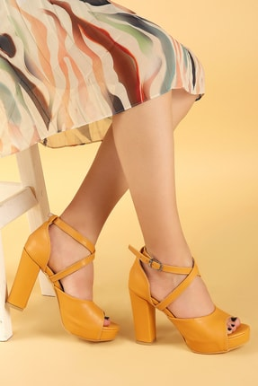 Ayakland Kadın 11 Cm Platform Topuk Sandalet Ayakkabı 0