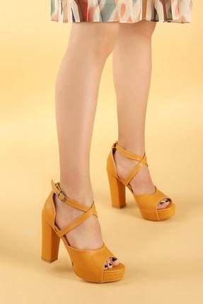 Ayakland Kadın 11 Cm Platform Topuk Sandalet Ayakkabı 2