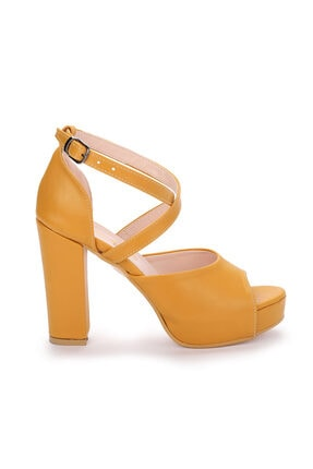 Ayakland Kadın 11 Cm Platform Topuk Sandalet Ayakkabı 3