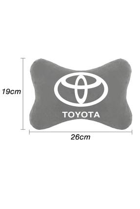 1araba1ev Toyota Carina Oto Oto Koltuk Boyun Yastığı Seyahat Yastık 2 Adet Gri 1