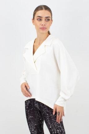 Kadın Kruvaze Yaka Salaş Bluz 0KAW0201828DW