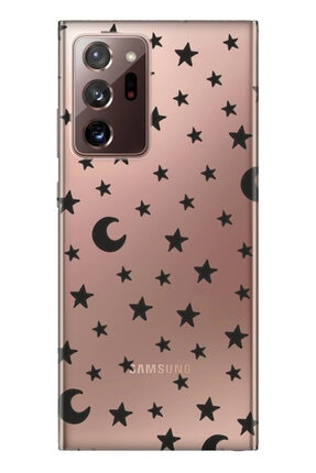 Cekuonline Samsung Galaxy Note 20 Ultra Tıpalı Kamera Korumalı Silikon Kılıf - Ayyıldız 0