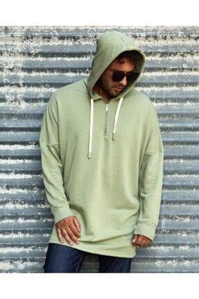 RANESA Unisex Yeşil Mint Kapüşonlu Sweatshirt 4