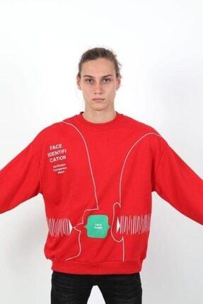RANESA Unisex Kırmızı Oversize Sweatshirt 0