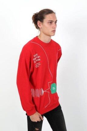 RANESA Unisex Kırmızı Oversize Sweatshirt 2