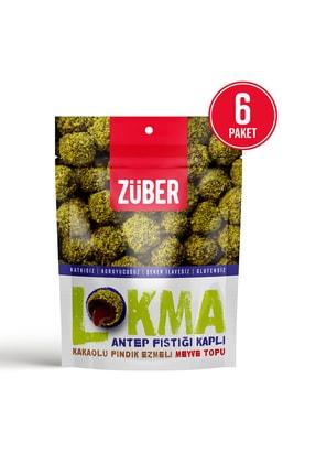 Züber Lokma Antep Fıstığı Kaplı Kakaolu Fındık Ezmeli Meyve Topu 96g X 6 Paket 1