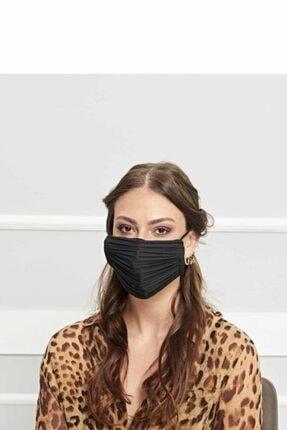 Papers Pleats Unisex Siyah Maske 0