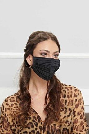 Papers Pleats Unisex Siyah Maske 1