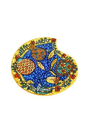 Finecraft El Yapımı  Orijinal Ve Özgün Tasarım Seramik Çini Dekoratif Tabak 30cm Es-616 0