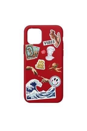 SUMTHINCS Summer Stickers Premium Kırmızı Iphone 11 Pro Telefon Kılıfı 0