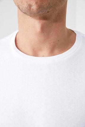 TRENDYOL MAN Beyaz Erkek Slim Fit Bisiklet Yaka Uzun Kollu Basic T-Shirt TMNAW20TS0199 2