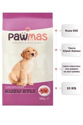 Pawmas Kuzu Etli Yavru Köpek Maması 10 Kg 0