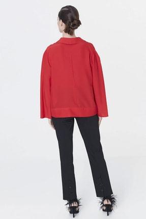 İpekyol Kadın Kırmızı Yaka Detaylı Bluz IS1200006093034 3