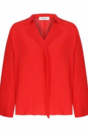 İpekyol Kadın Kırmızı Yaka Detaylı Bluz IS1200006093034 4