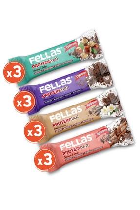 Fellas Protein Bar 32g Karma Kutu 12 Adet (4 Çeşit) 0