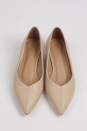 Marjin Kadın Bej Evara Günlük Topuklu Ayakkabı 4