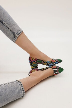Marjin Kadın Yeşil Apunte Klasik Topuklu Ayakkabı 3