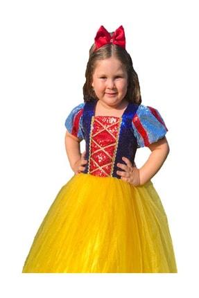 DEHAMODA Kız Çocuk Tarlatanlı Pelerin Pamuk Prenses Dogum Günü Elbise 2