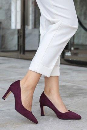 Mio Gusto Lita Bordo Süet Topuklu Ayakkabı 0
