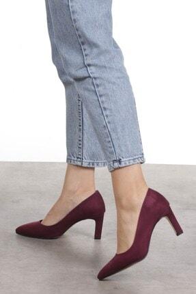 Mio Gusto Lita Bordo Süet Topuklu Ayakkabı 1