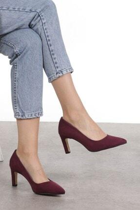 Mio Gusto Lita Bordo Süet Topuklu Ayakkabı 3