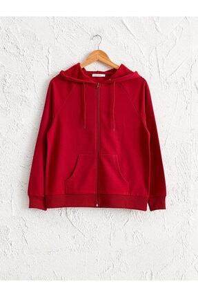 LC Waikiki Kadın Kırmızı Sweatshirt 0