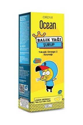 Ocean Orzax Limon Aromalı Balık Yağı Şurubu 150 ml 0