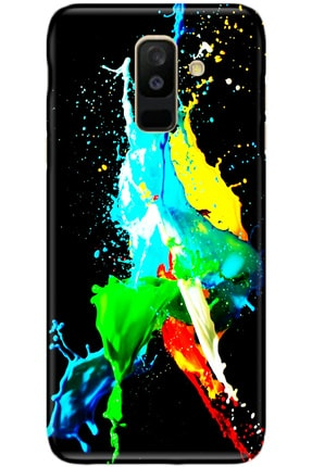 Turkiyecepaksesuar Samsung Galaxy A6 Plus Kılıf Silikon Baskılı Desenli Arka Kapak 0