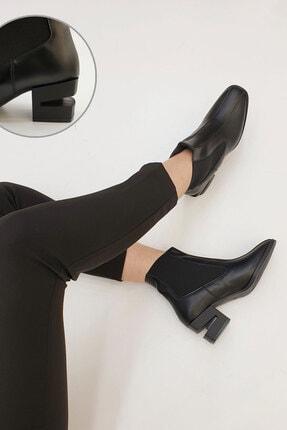 Marjin Diolas Kadın Topuklu Botsiyah 1