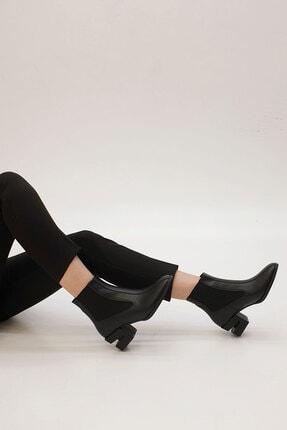 Marjin Diolas Kadın Topuklu Botsiyah 2