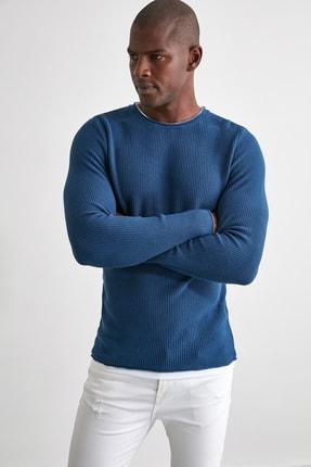 TRENDYOL MAN Mavi Erkek Kazak TMNAW21KZ1563 1