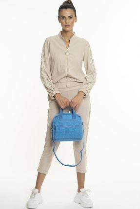Benetton Kadın Mavi El Çantası  Bnt220 1