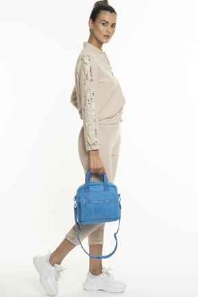 Benetton Kadın Mavi El Çantası  Bnt220 3