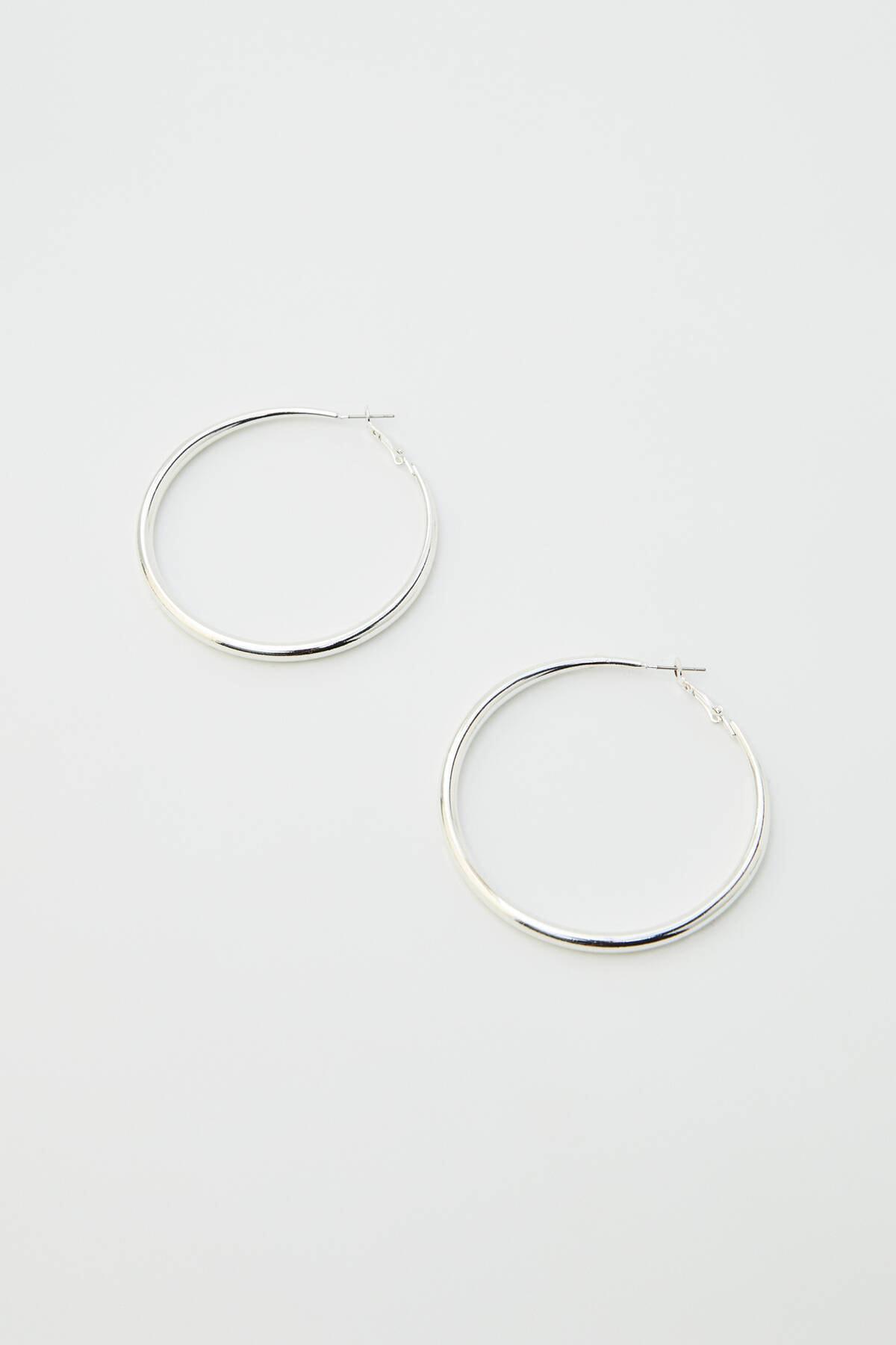 Pull & Bear Kadın Gümüş Karma Renkli Halka Küpe Seti 09996384 1
