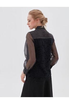 Kayra Kadın Siyah Bluz Ka-b20-10072 4