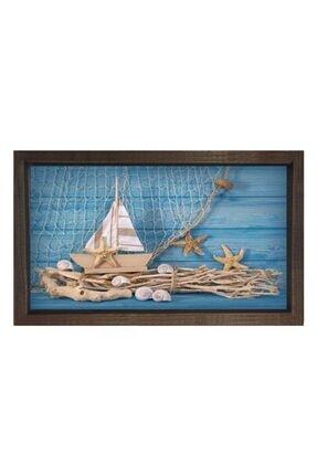 Deniz Çerçeve & Tuval Yelken Yıldız Tablosu Çerçevesiz 100x150 0
