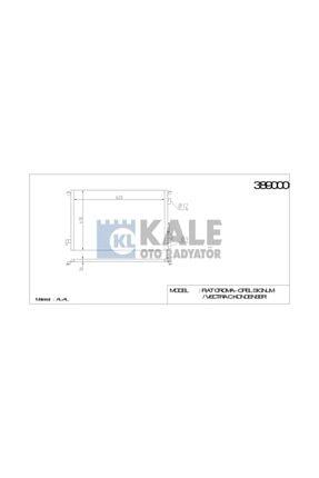 KALE Klima Radyatoru (opel: Signum-vectra C-croma 1.6ı-18ı 02= ) - Klr-389000 0
