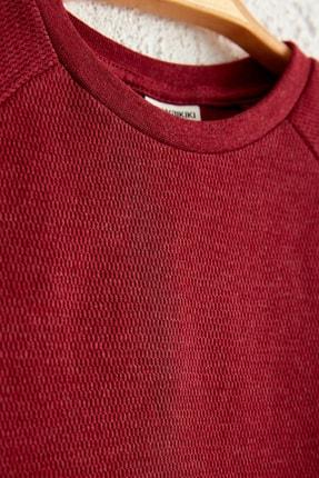 LC Waikiki Erkek Çocuk Bordo Jsp T-Shirt 1