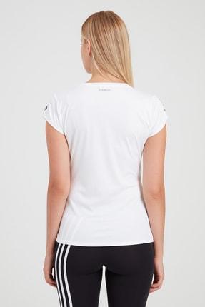 adidas CLUB 3 STR TEE Beyaz Kadın T-Shirt 101069106 2